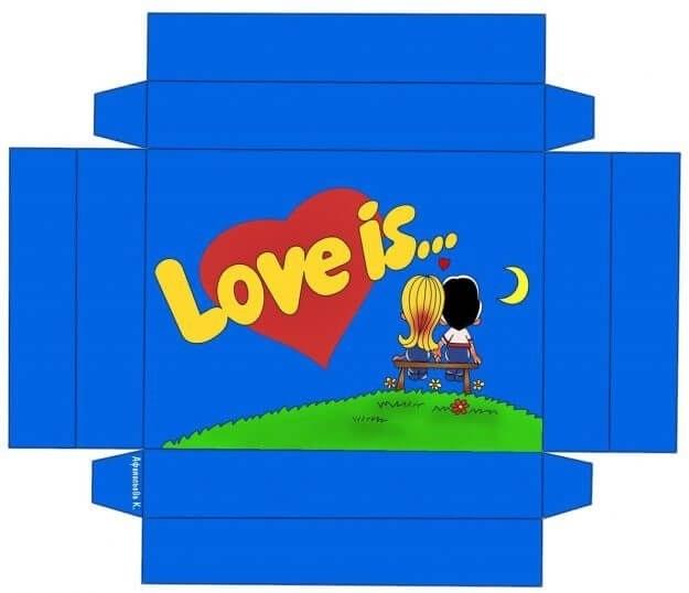 Шаблон коробки для шоколада 015
