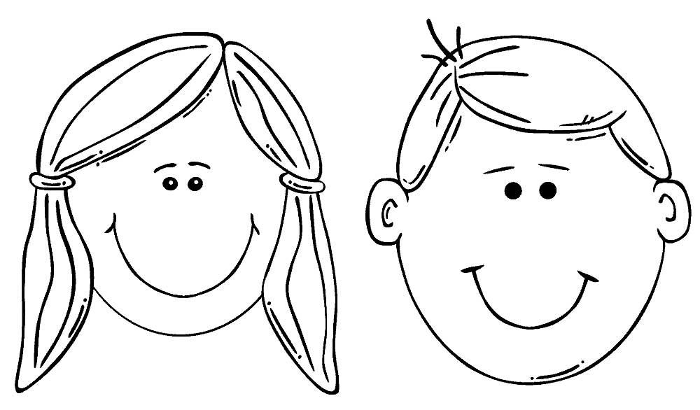 Эмоции в картинках раскраска 017