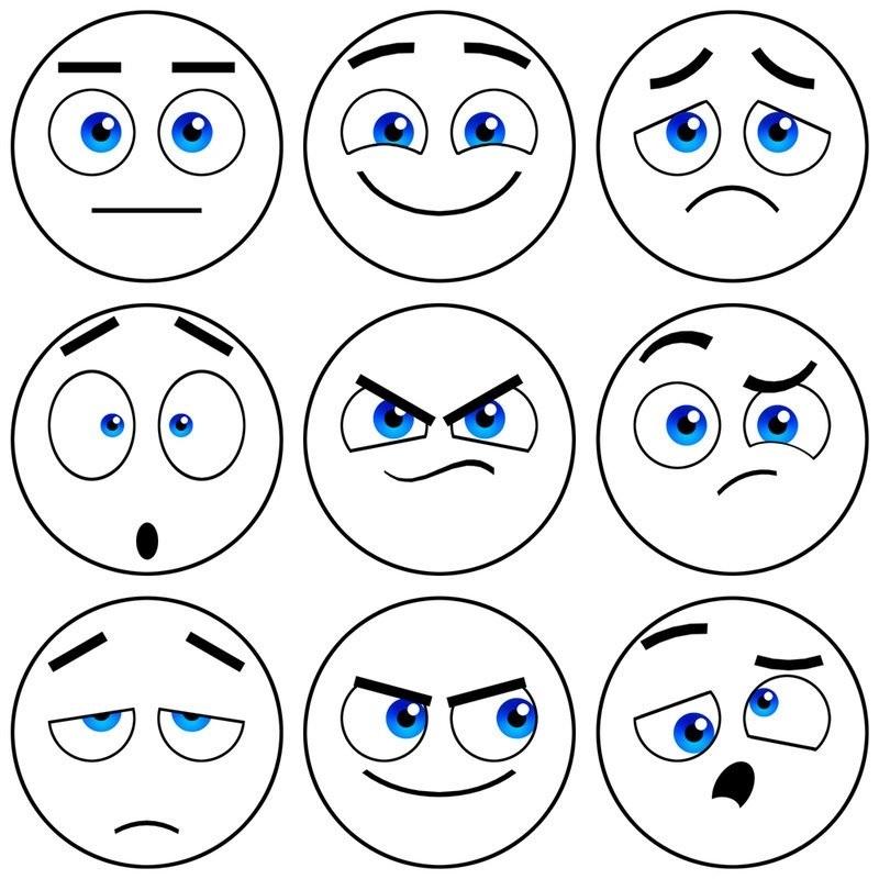 Эмоции в картинках раскраска 020