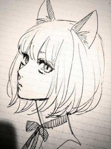 Эскизы рисунков аниме 020