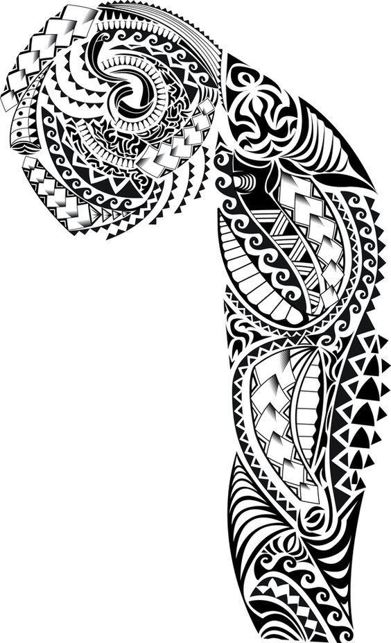 Эскиз маори тату 022