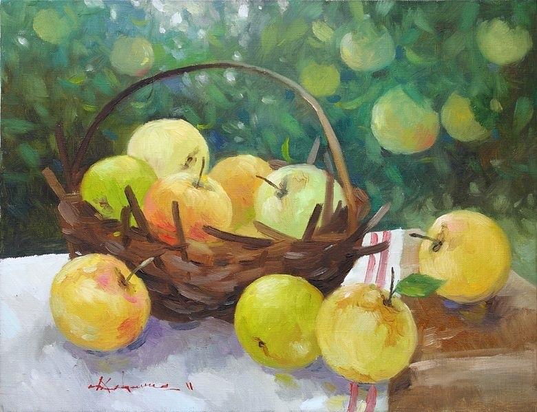 картинки живопись яблоко редко встретишь