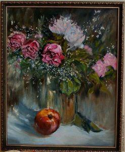Яблоко картина маслом 024