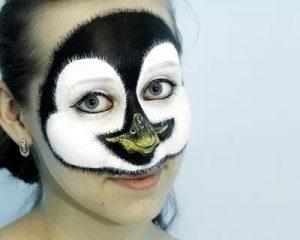 аквагрим пингвин 021