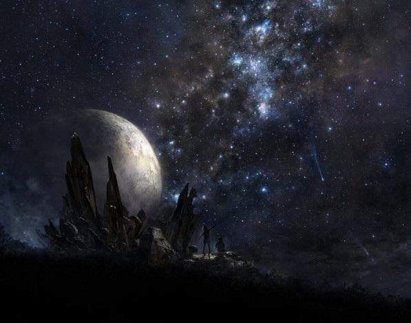 аниме арты звездное небо 006