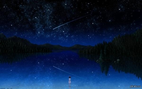 аниме арты звездное небо 008