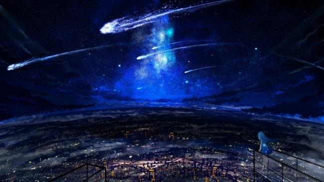аниме арты звездное небо 010