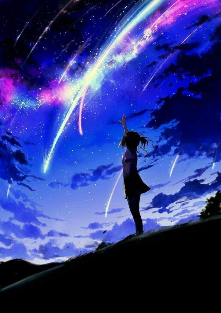 аниме арты звездное небо 015