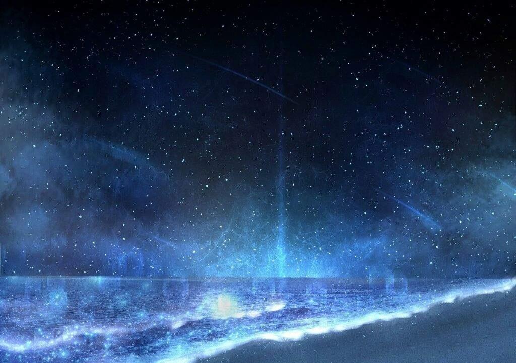 аниме арты звездное небо 019