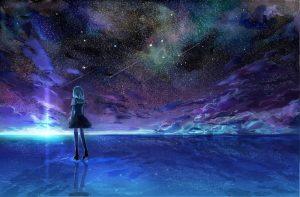 аниме арты звездное небо 021