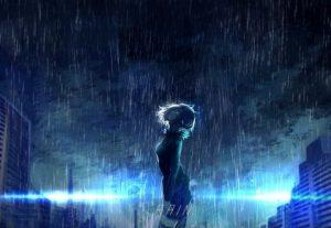 аниме арт под дождем 019