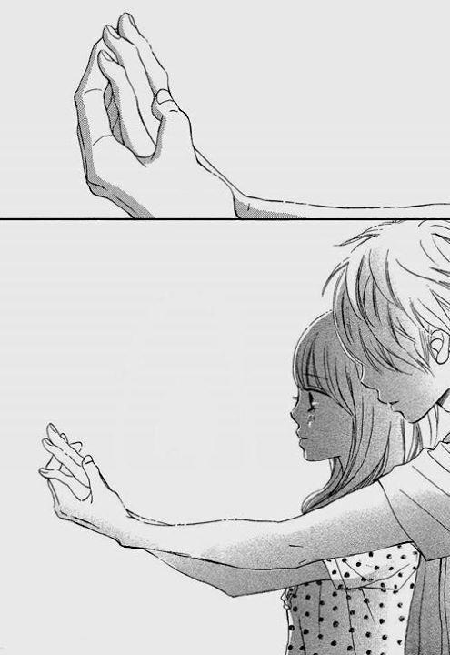 арты аниме парочки черно белые 016