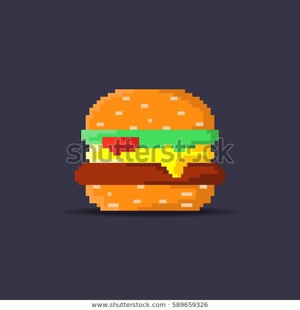 арт бургер пиксель 003