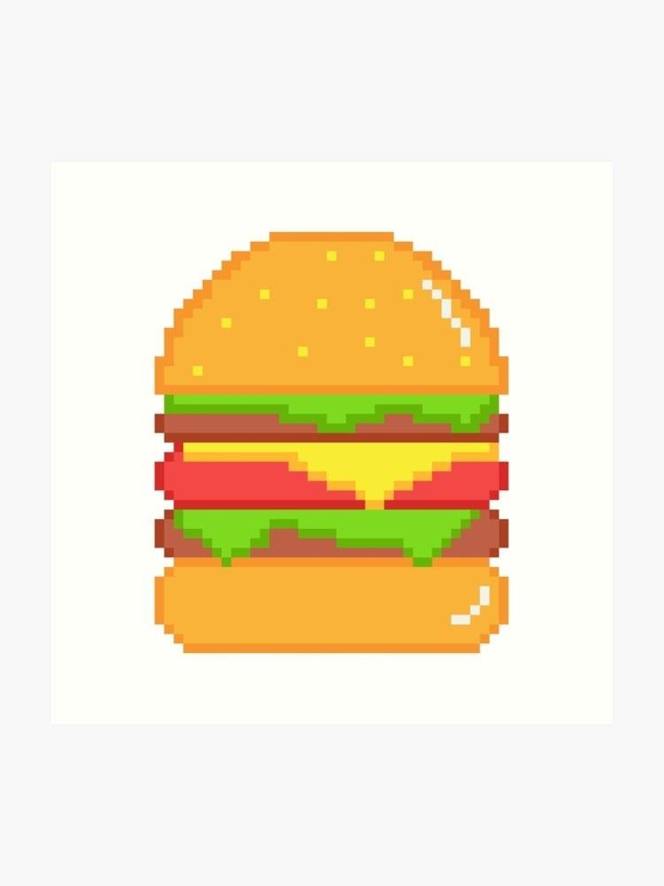 арт бургер пиксель 005