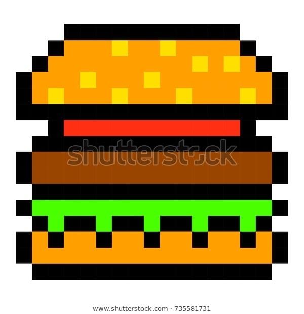 арт бургер пиксель 009
