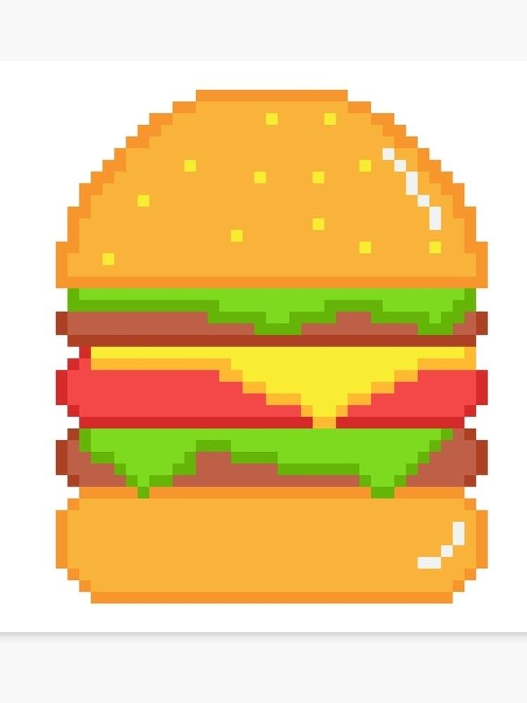 арт бургер пиксель 012