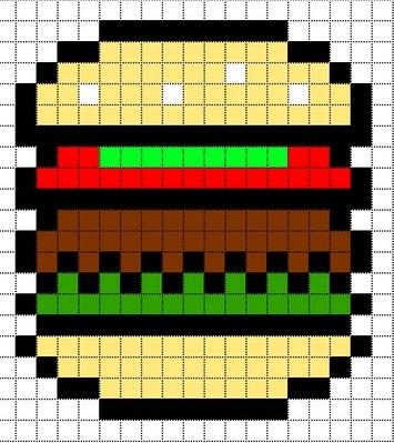 арт бургер пиксель 013