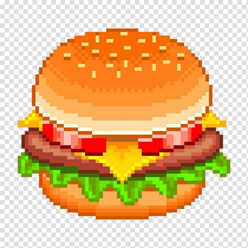 арт бургер пиксель 015
