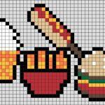 Арт бургер пиксель — красивые картинки