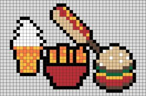 арт бургер пиксель 016