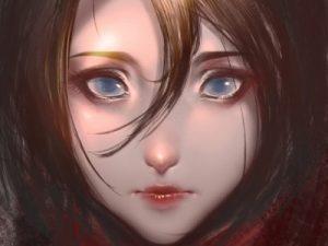 арт голубые глаза 023