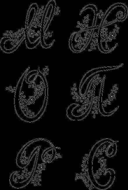 вензель буквы м 008