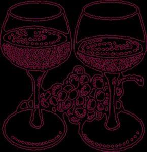 вино и виноград рисунок 019