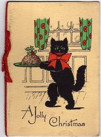 винтажные открытки на новый год 008