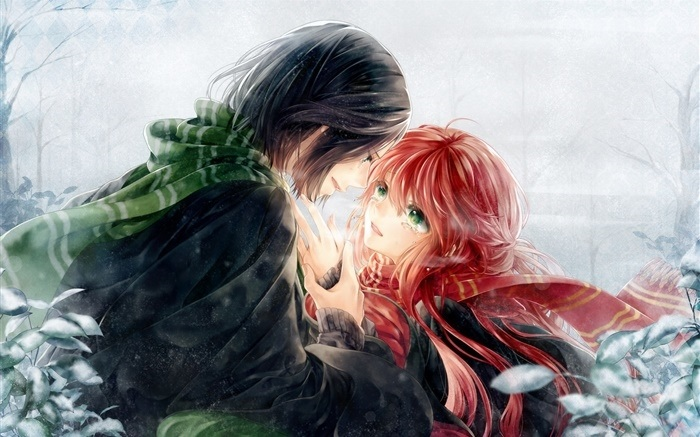 влюбленные аниме арт 002