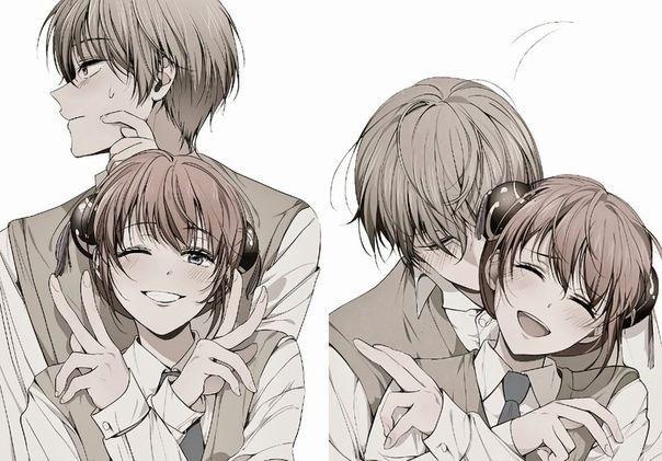 влюбленные аниме арт 008