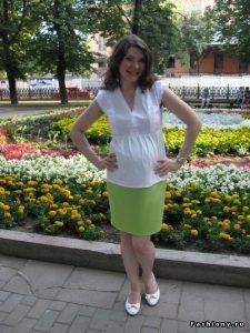 выкройка блузка для беременных 021