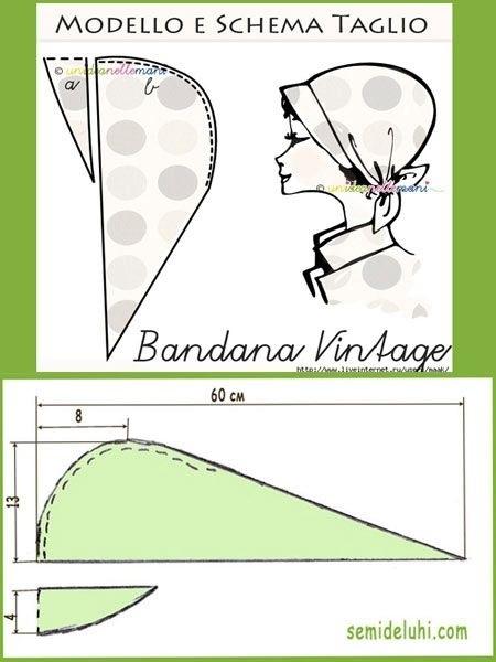 выкройка косынки с козырьком для женщины 012