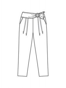 выкройка юбка банан 022