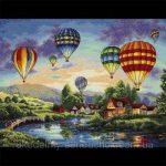 Вышивка крестом воздушные шары — скачать бесплатно