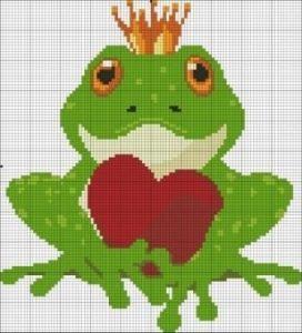 вышивка лягушки крестом 018