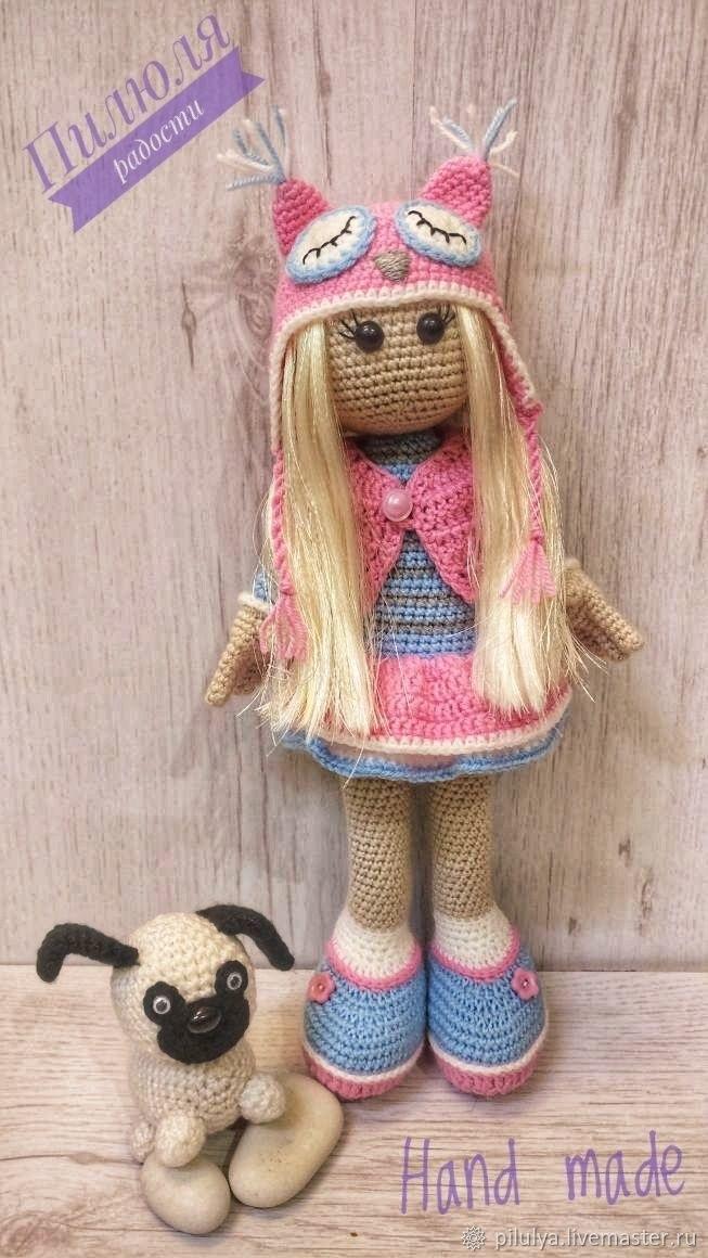 вязанная кукла большеножка 001