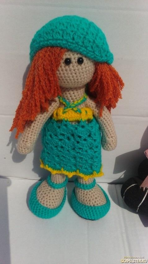 вязанная кукла большеножка 002