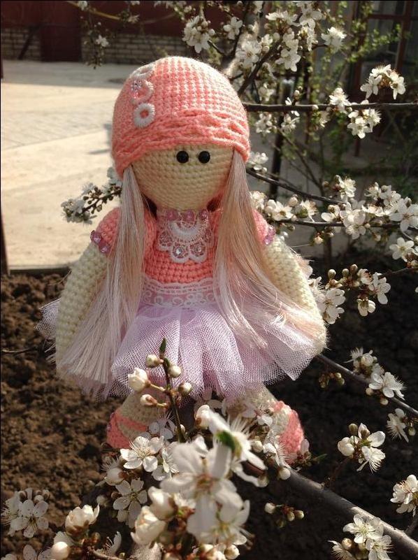 вязанная кукла большеножка 003