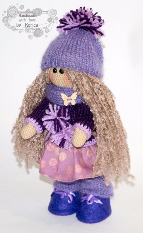 вязанная кукла большеножка 005
