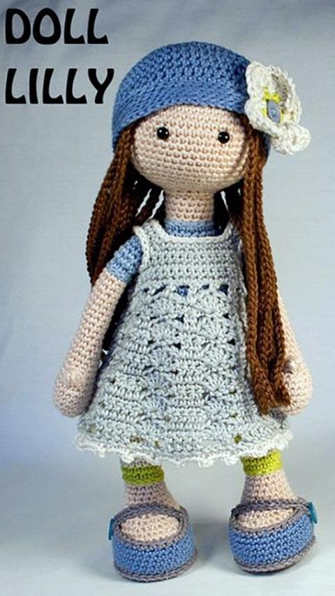 вязанная кукла большеножка 006