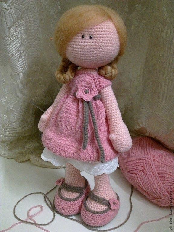 вязанная кукла большеножка 008