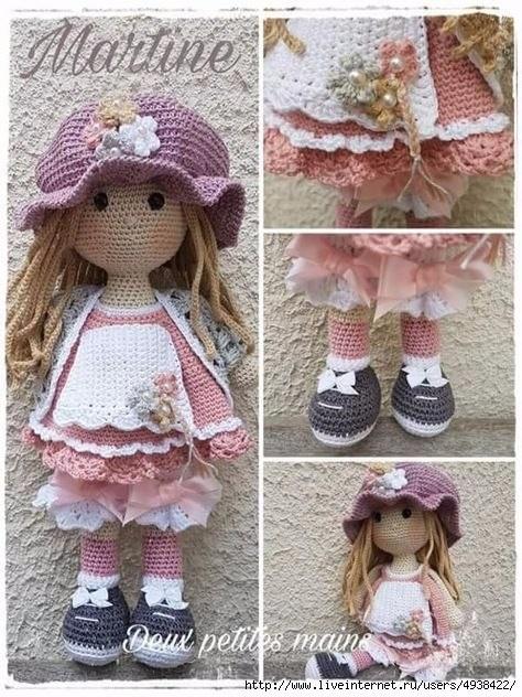 вязанная кукла большеножка 009