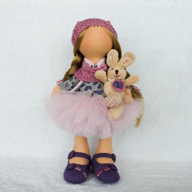 вязанная кукла большеножка 011
