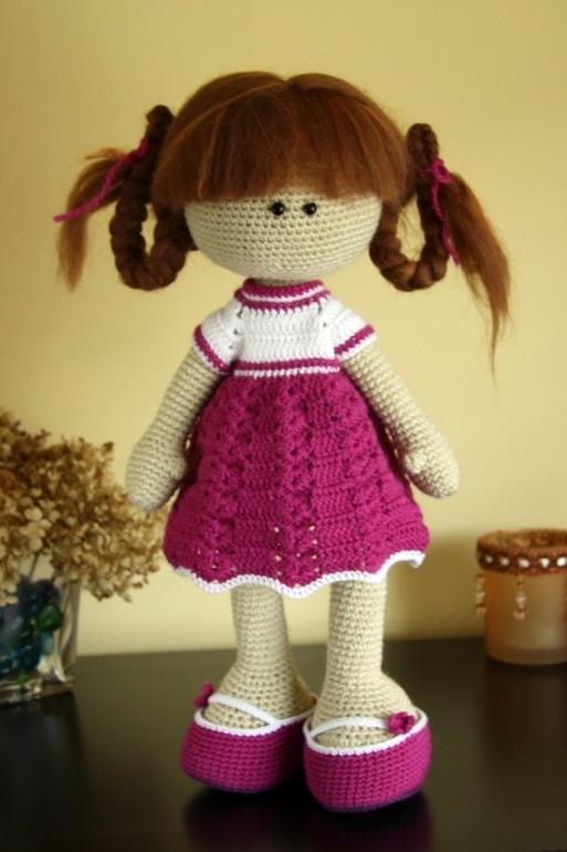 вязанная кукла большеножка 013