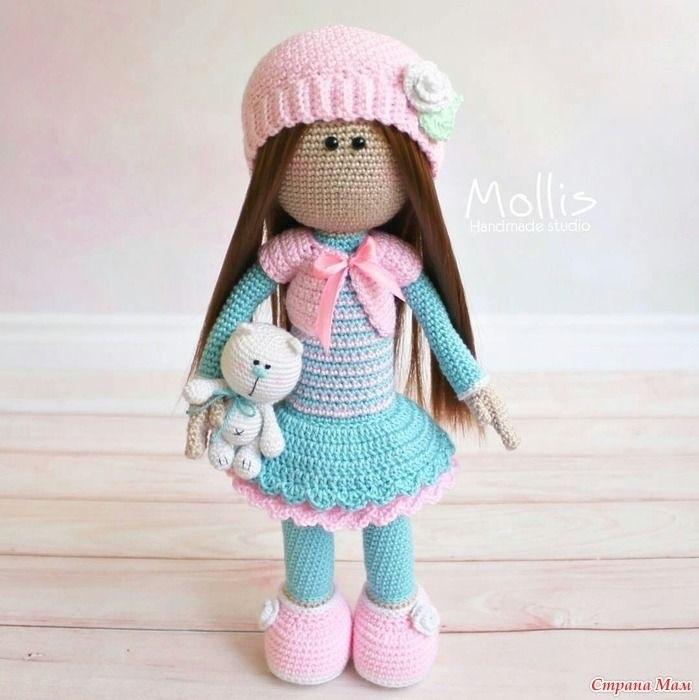 вязанная кукла большеножка 014