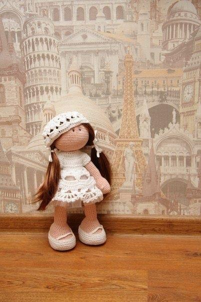 вязанная кукла большеножка 015