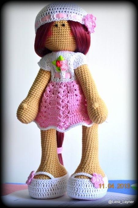 вязанная кукла большеножка 016