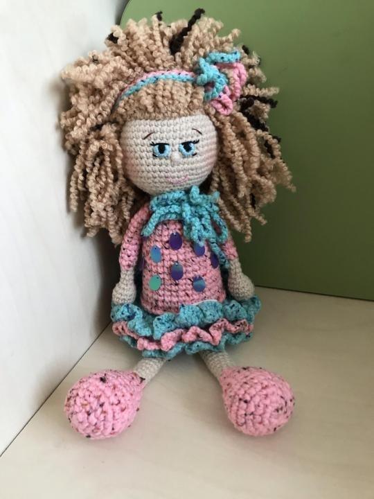 вязанная кукла большеножка 017
