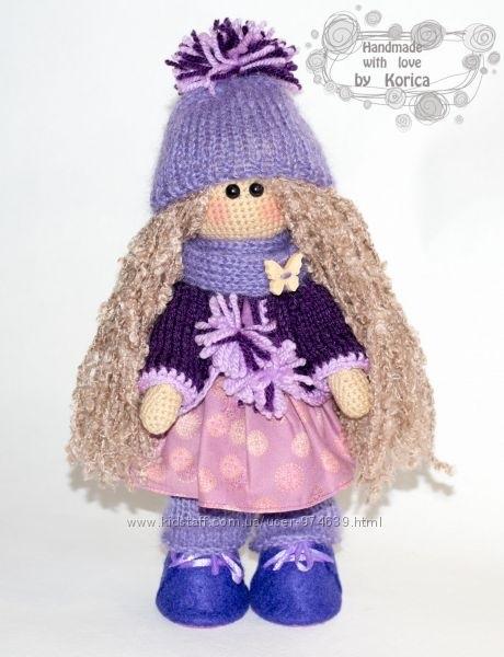 вязанная кукла большеножка 018
