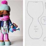 Красивая | вязанная кукла большеножка